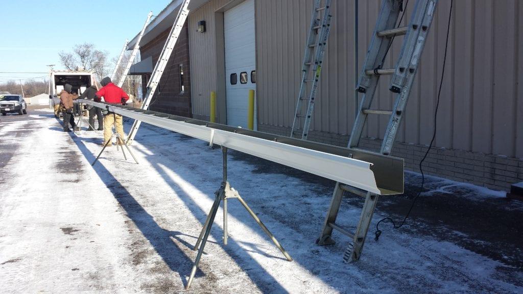 Cutting Gutters to Fit