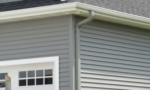 Siding Colored Downspout