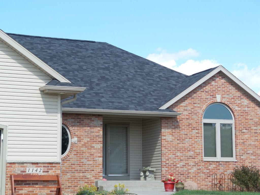 Closeup Black Singled Roof