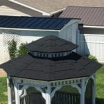 Finished Stone Coated Steel Shingle Gazebo