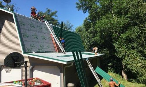 Garage Install Painted Steel