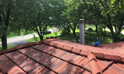 Red Stone Coated Steel Roof