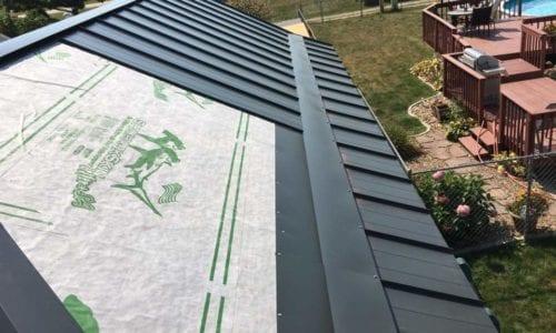 Beginning Install Painted Steel Roof