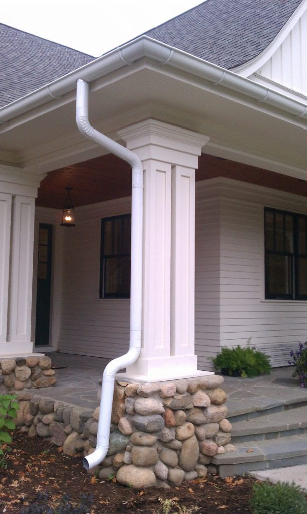 Downspout Attached to Column
