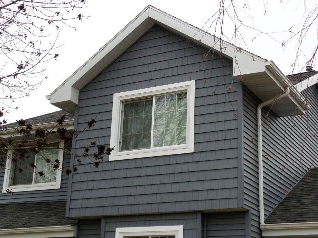 Dark Blue Shake Shingle Siding