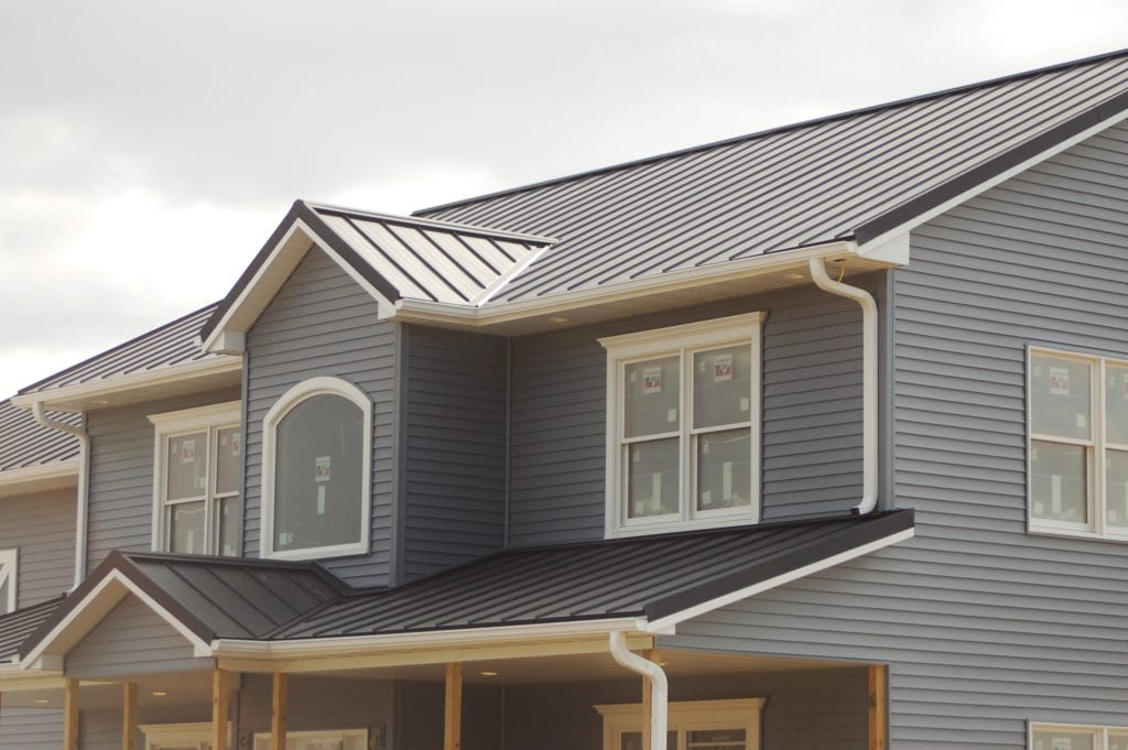 Standing Seam Grey Painted Steel