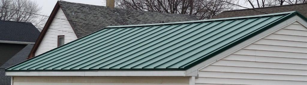Closeup Green Painted Steel