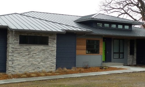 Painted Steel Roof on Ranch Home