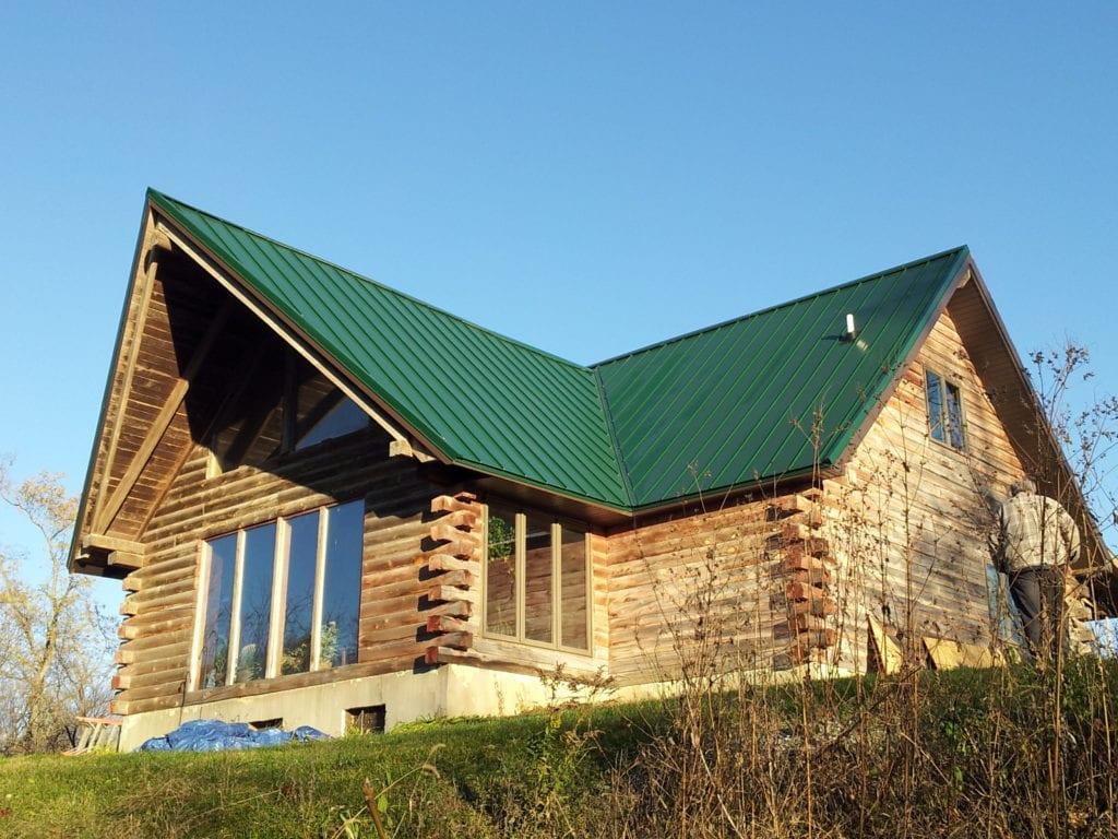 Green Painted Steel Roof