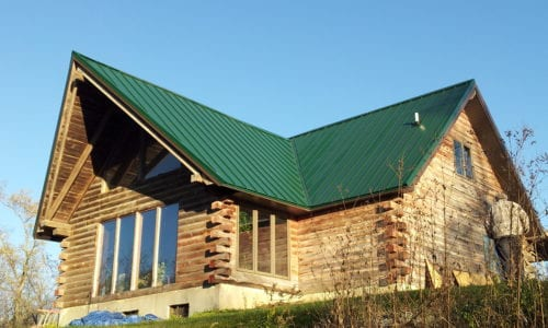 Green Painted Steel Roof